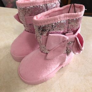 Size 5 Pink Bebe Girls boots (NWT)